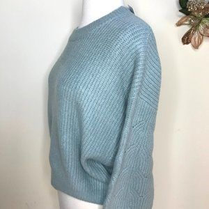 Elodie Cropped Crewneck Sweater Dolman Sleeves Sage Size Small NWT